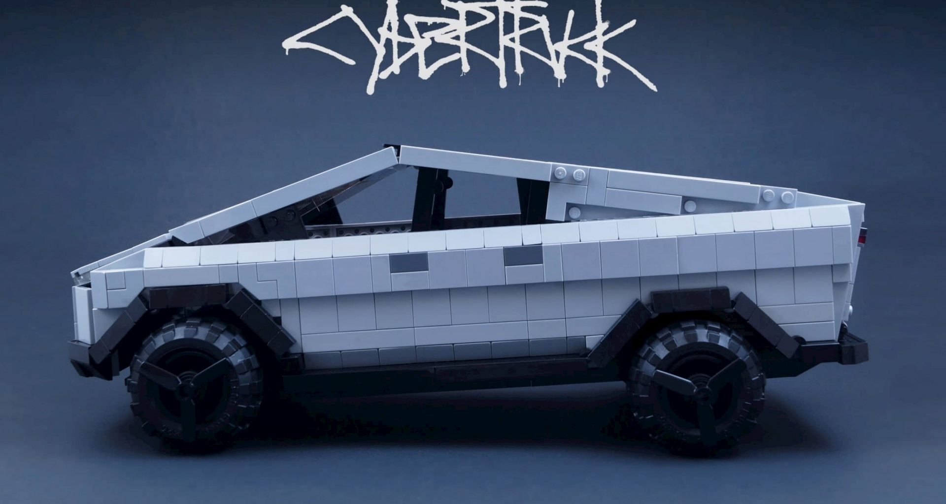 Tesla Lego Cybertruck Profile View