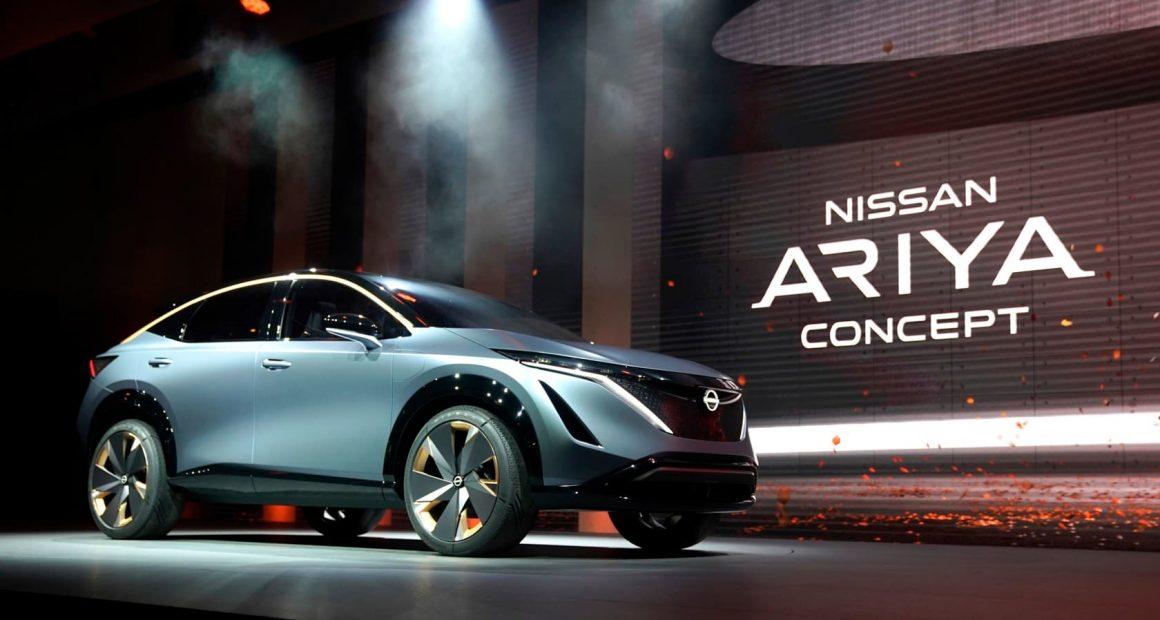 Nissan Ariya on stage