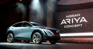 Nissan Ariya on stage