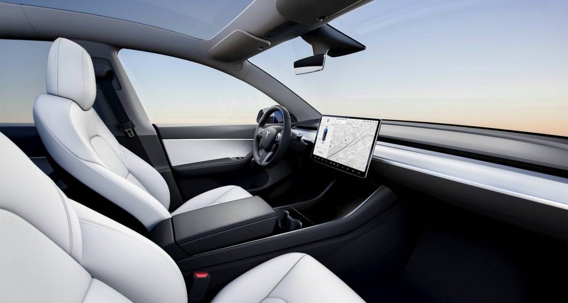 Tesla Model Y White Interior