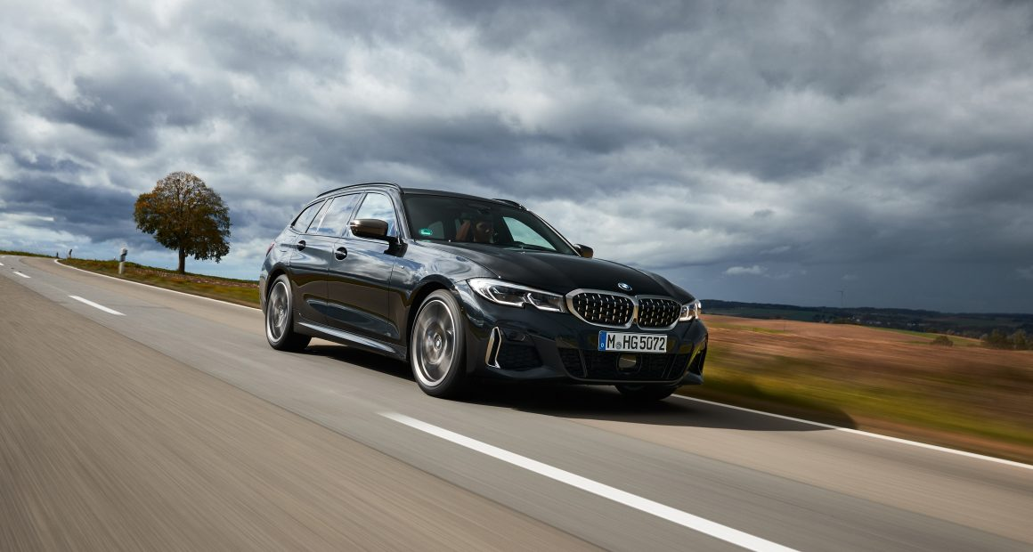 BMW m340d driving on a road
