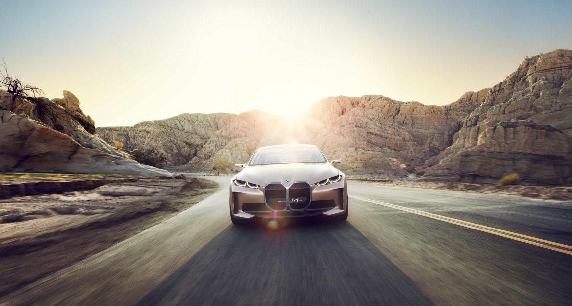 BMW i4 Driving