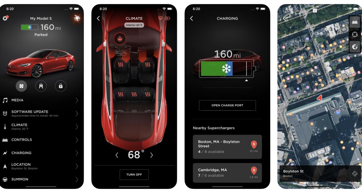 Tesla App Interface