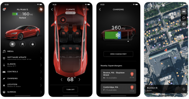 Tesla App Interface